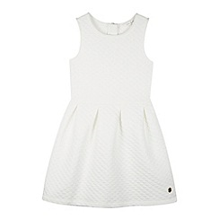 J by Jasper Conran - Designer girl's white textured skater dress