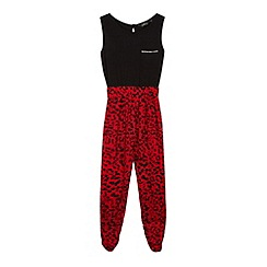 Star by Julien MacDonald - Designer girl's red animal print jumpsuit