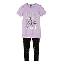 Star by Julien MacDonald - Designer girl's lilac seat top and leggings set