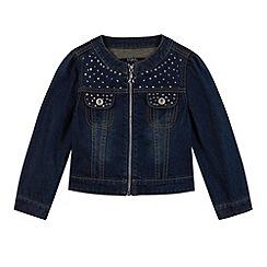 Star by Julien MacDonald - Designer girl's blue studded denim jacket