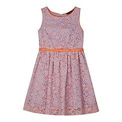 Star by Julien MacDonald - Designer girl's lilac two tone lace dress