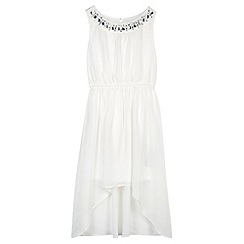 Star by Julien MacDonald - Designer girl's cream jewel neck dress