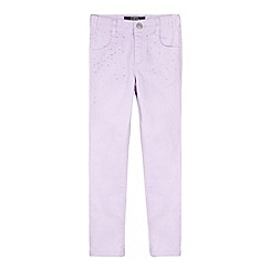 Star by Julien MacDonald - Designer girl's lilac studded skinny jeans