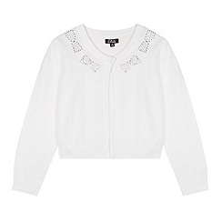 Star by Julien MacDonald - Designer girl's white diamante cardigan