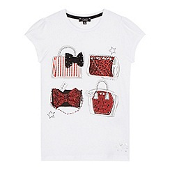 Star by Julien MacDonald - Designer girl's white handbag printed t-shirt