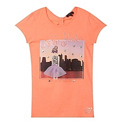 Star by Julien MacDonald - Designer girl's coral 'New York' t-shirt