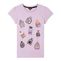 Star by Julien MacDonald - Designer girl's lilac perfume bottle print t-shirt
