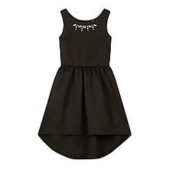 Star by Julien Macdonald - Designer girl's black gem neck scuba dress