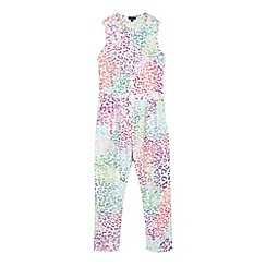 Star by Julien MacDonald - Designer girl's white jersey animal jumpsuit