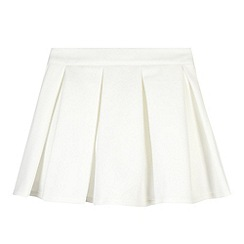 Star by Julien Macdonald - Designer girl's white scuba skirt
