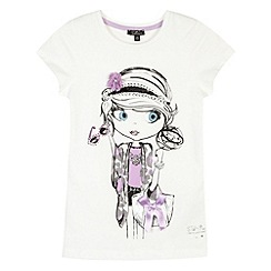 Star by Julien Macdonald - Designer girl's cream princess girl t-shirt