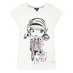 Star by Julien MacDonald - Designer girl's cream princess girl t-shirt