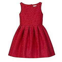 RJR.John Rocha - Designer girl's red jacquard floral dress