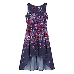 RJR.John Rocha - Designer girl's navy pansy print dress