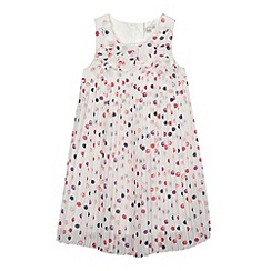 RJR.John Rocha - Designer girl's white spotty pleated dress