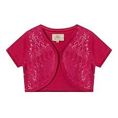 RJR.John Rocha - Designer girl's pink sequin bolero
