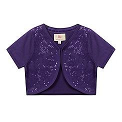 RJR.John Rocha - Designer girl's purple sequin bolero