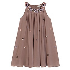 RJR.John Rocha - Designer girl's taupe embellished dress