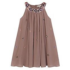 RJR.John Rocha - Designer girl's taupe embellished dress