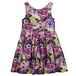 RJR.John Rocha - Designer girl's purple floral print dress