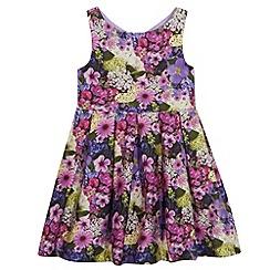 RJR.John Rocha - Designer girl's purple floral print dress
