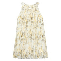 RJR.John Rocha - Designer girl's yellow floral pleated dress
