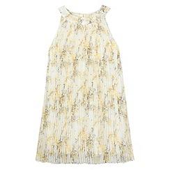 RJR.John Rocha - Designer girl's yellow floral pleated dress