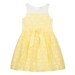 RJR.John Rocha - Designer girl's yellow embroidered flower print dress