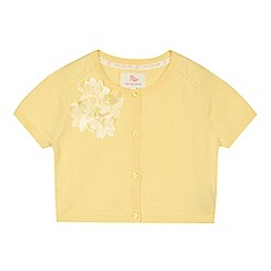 RJR.John Rocha - Designer girl's yellow flower applique cardigan