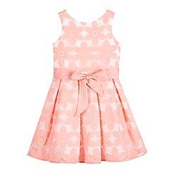 RJR.John Rocha - Designer girl's pink embroidered flower prom dress