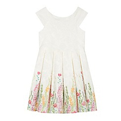 RJR.John Rocha - Designer girl's cream floral border lace dress