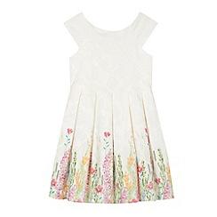 RJR.John Rocha - Designer girl's cream floral border lace dress