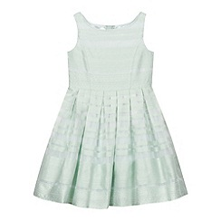 J by Jasper Conran - Designer girl's green textured print organza dress