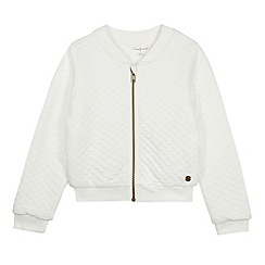 J by Jasper Conran - Designer girl's white quilted bomber jacket