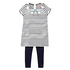 J by Jasper Conran - Designer girl's blue embellished tunic and leggings set