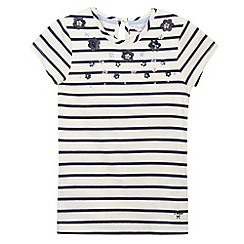 J by Jasper Conran - Designer girl's white embellished striped top
