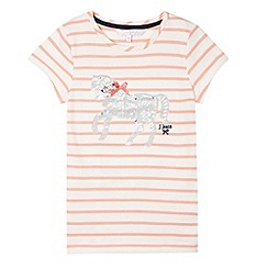 J by Jasper Conran - Designer girl's striped horse t-shirt