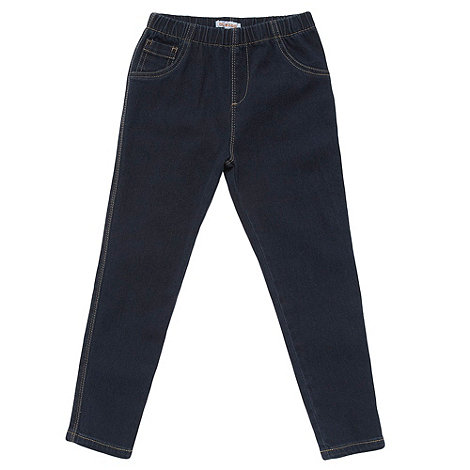 bluezoo - Girl+s dark blue denim jeggings