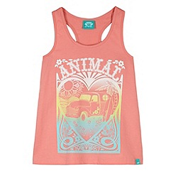 Animal - Girl's pink graphic detail vest