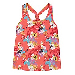 Animal - Girl's pink floral muscle back vest