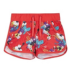 Animal - Girl's pink floral board shorts