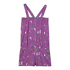 Animal - Girl's purple ice cream print playsuit