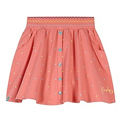 Animal - Girl's peach spot skirt smock waist