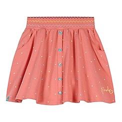 Animal - Girl's peach spot skirt smock waist