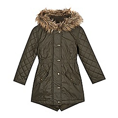 bluezoo - Girl's khaki waxed parka
