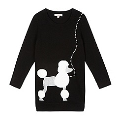 bluezoo - Girl's black studded poodle jumper