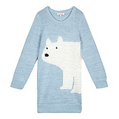 bluezoo - Girls' blue polar bear tunic