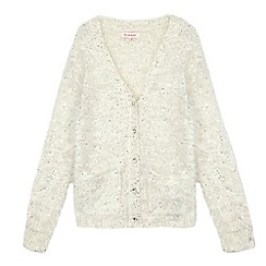 bluezoo - Girls' cream sequinned cardigan