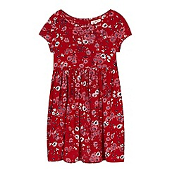 bluezoo - Girl's red floral dress