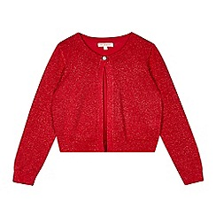 bluezoo - Girls' red metallic cardigan